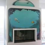 Trompe-l-oeil-Meeresboden-Fisch-Delphin-Korallen-Graffiti
