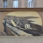 Trompe-l-oeil-alte-Dorf - Graffiti-mountain-Rebe-Haus