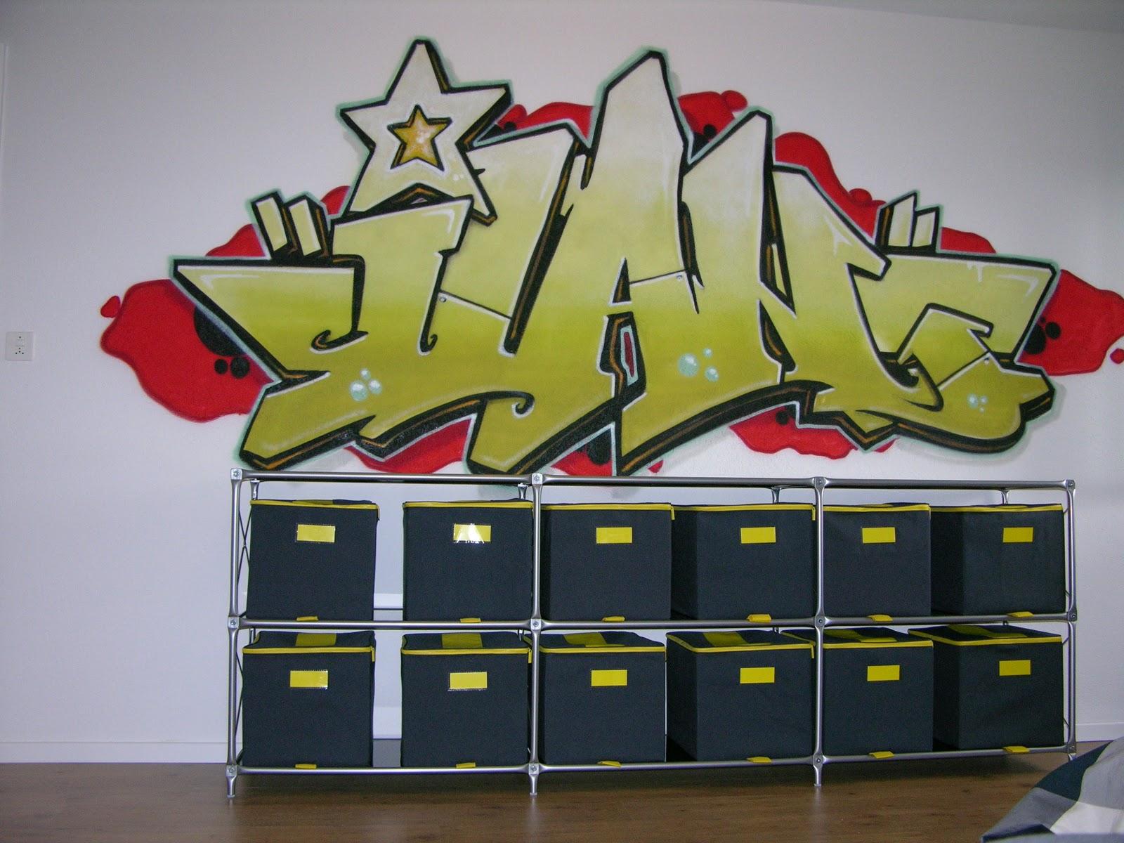 zurich prenom graff graffiti chambre enfant adolescent mur villa maison decoration bebe. Black Bedroom Furniture Sets. Home Design Ideas