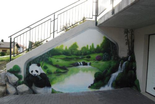 panda zen garden graffiti