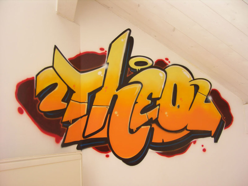 kinderzimmer graffiti sprayer in der schweiz k nstler. Black Bedroom Furniture Sets. Home Design Ideas
