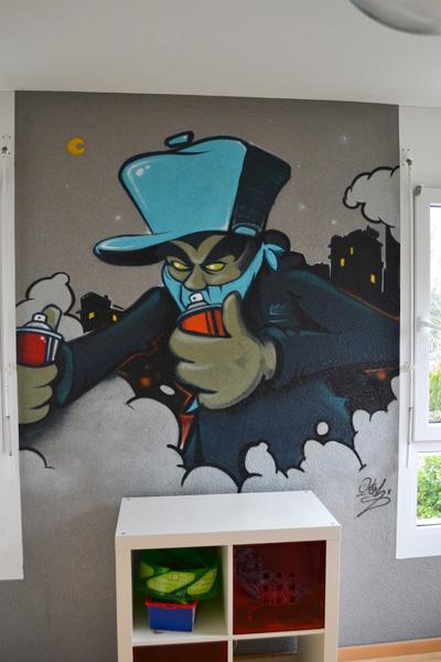 graffiti basel kinderzimmer dekoration k nstler. Black Bedroom Furniture Sets. Home Design Ideas