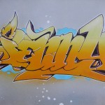 Graffiti für Jenny auf Leinwand