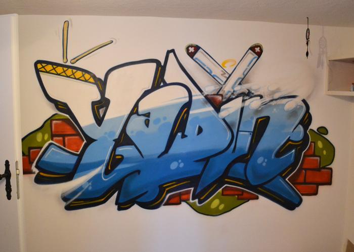 graffiti Auftrag im Wallis, Saas Fee, Zermat
